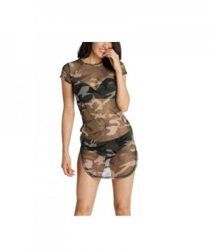 Summer Camouflage Sleeve Perspective Bodycon