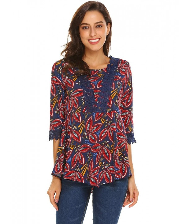 SoTeer Printed Sleeve Tunics Pleated