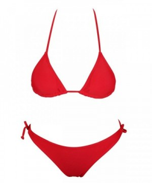stripsky Halter Traingle Bikini Swimsuit