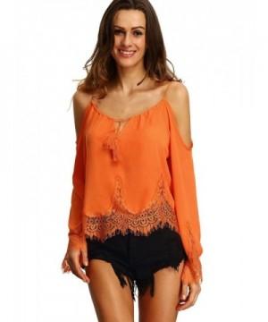 Milumia Womens Shoulder Sleeve Blouse