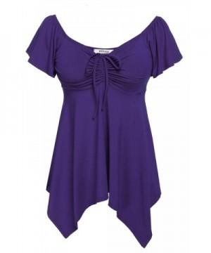 Meaneor Womens Blouse Tshirt Purple