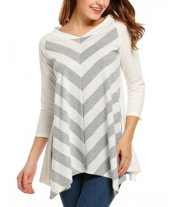 Zeagoo Sleeve Striped Zig Zag Pattern
