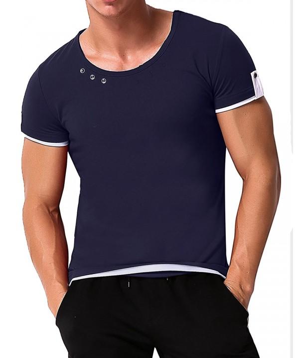 MODCHOK Sleeve Shirts Button Cotton