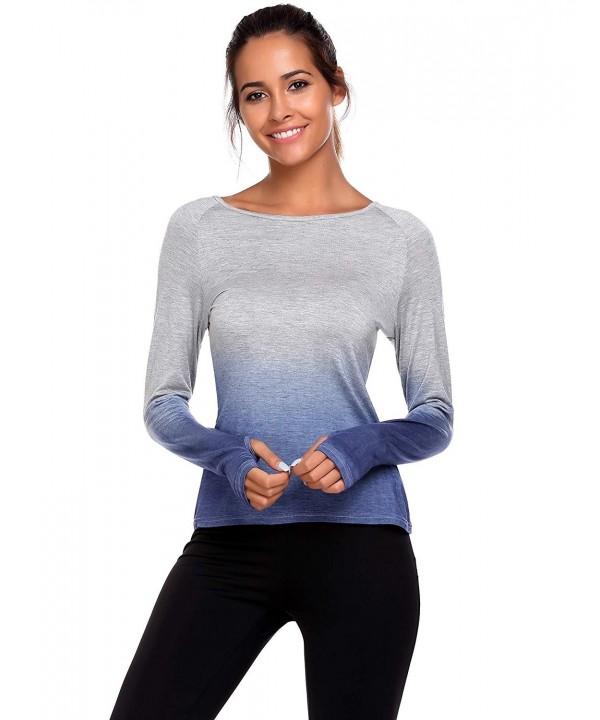 Elesol Womens Casual Gradient T Shirt