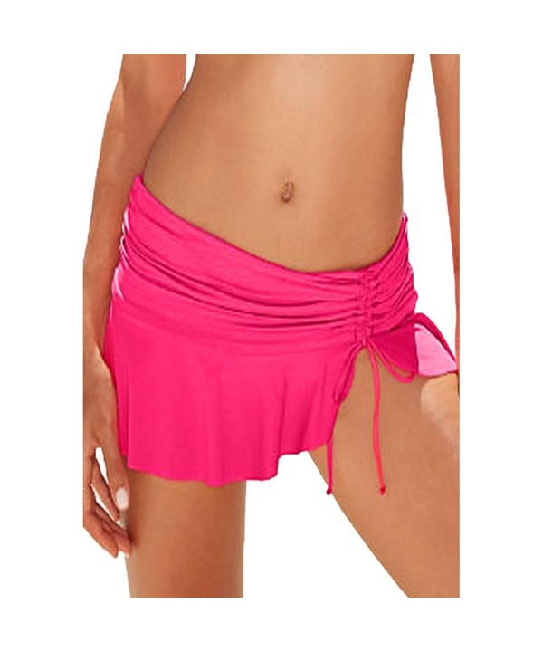Jersri Bikini Bottoms Ruched Skirts