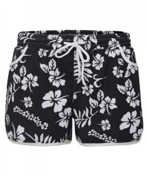 Womens Swimming Shorts Floral Trunks