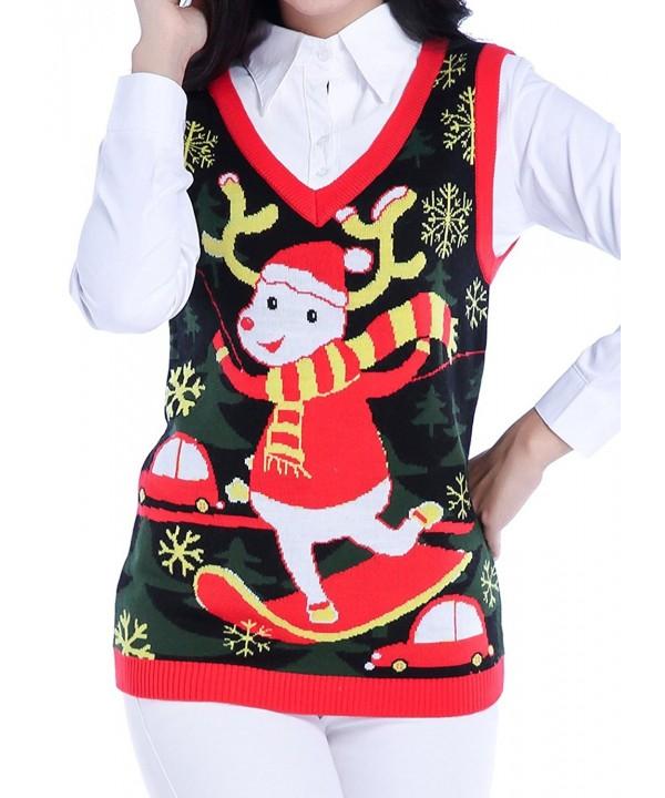 V28 Christmas Sweater Vintage Reindeer