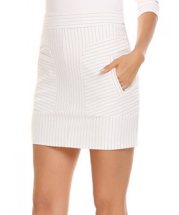 ANGVNS Womens Striped Patchwork Stretchy