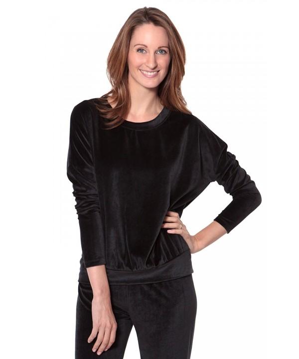 TexereSilk Womens Velour Sleeve TX WB013 001 BLCK R S