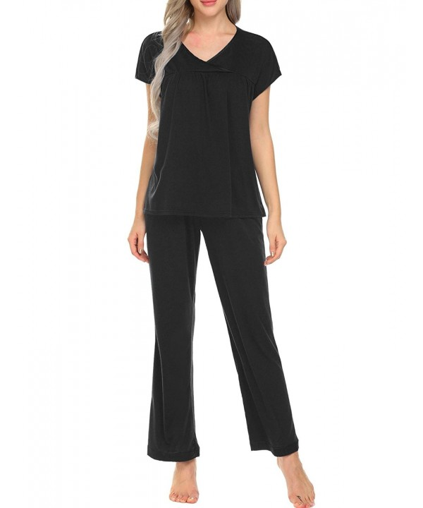 Ekouaer Sleepwear Womens Cotton Loungewear