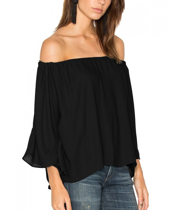 ALLY MAGIC Shoulder Sleeves Strapless Blouses
