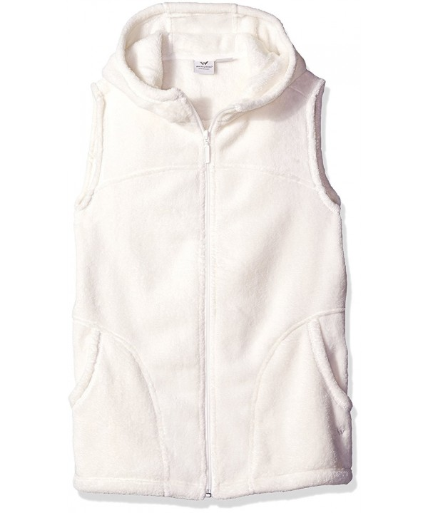 White Sierra Fleece Hooded X Large