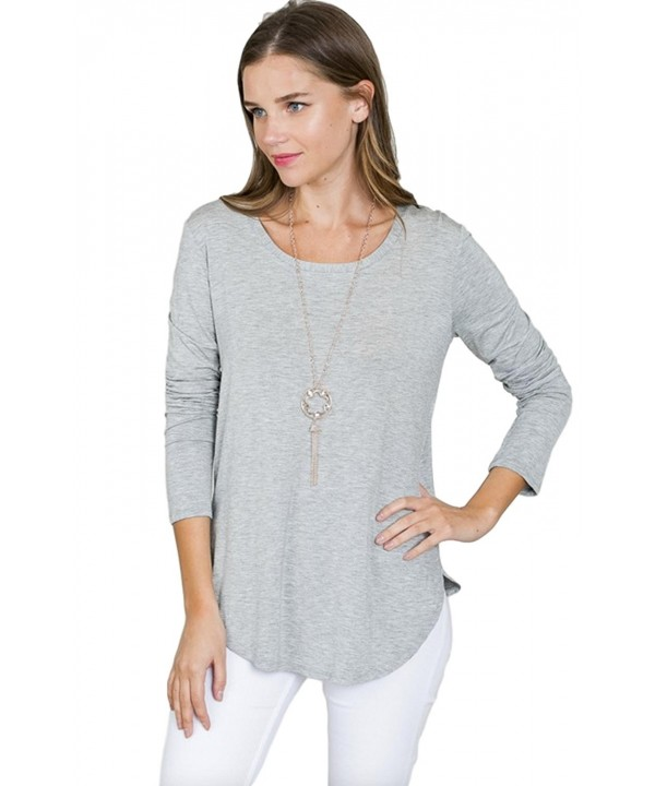 Emmas Closet Womens Round Neck Heather