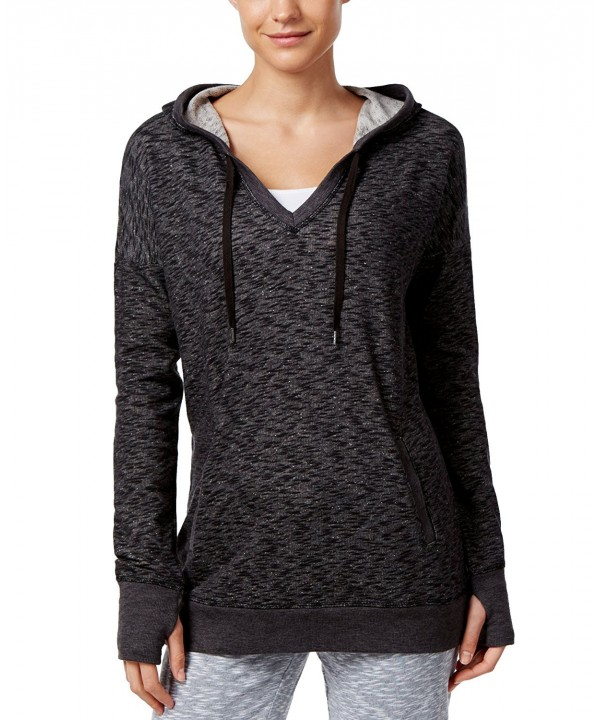 Ideology Womens Pull over Heathered Hoodie