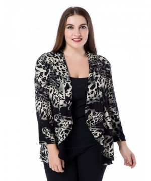 Chicwe Womens Waterfall Jacket Blouse