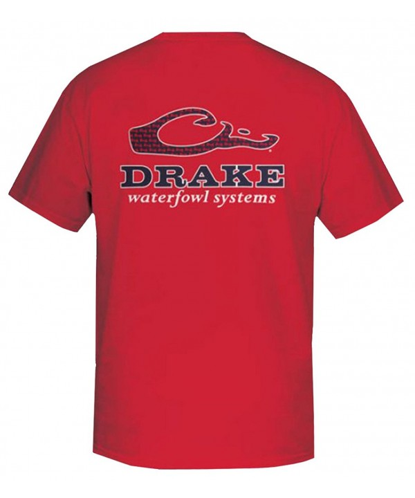 Drake Waterfowl Short Sleeve T Shirt Red medium