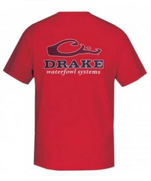 Drake Waterfowl Short Sleeve T Shirt Red medium