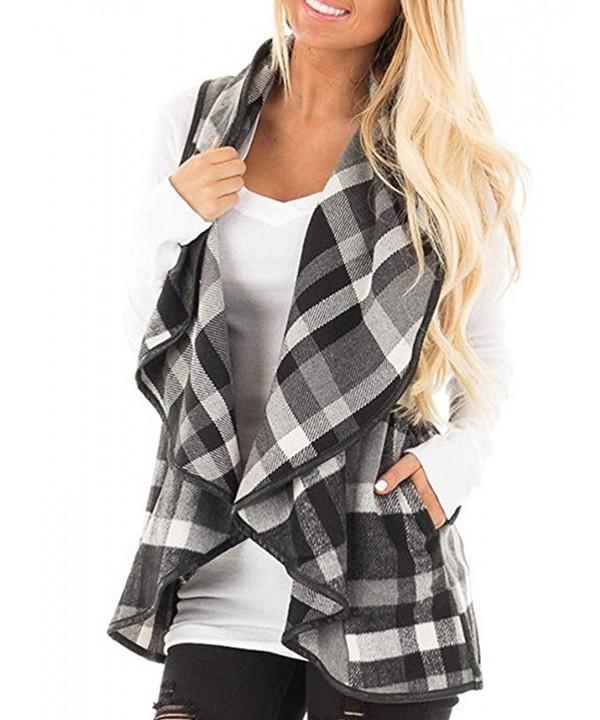 Wishment Womens Sleeveless Cardigan Jackets