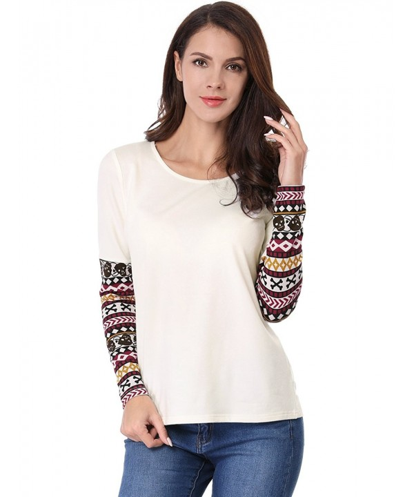 Allegra Womens Geometric Pattern Sleeve