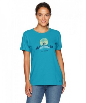Life Good Crusher T Shirt Turquoise
