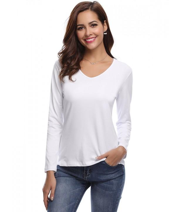 Aibrou Womens Sleeve Shirts Cotton