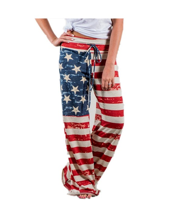 Womens American Drawstring Pants Leggings