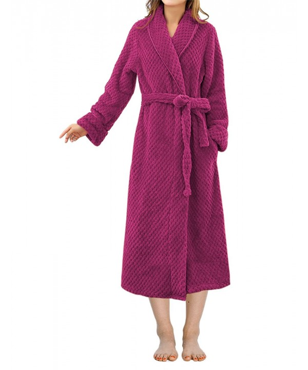 LAPAYA Womens Bathrobe Collar Length