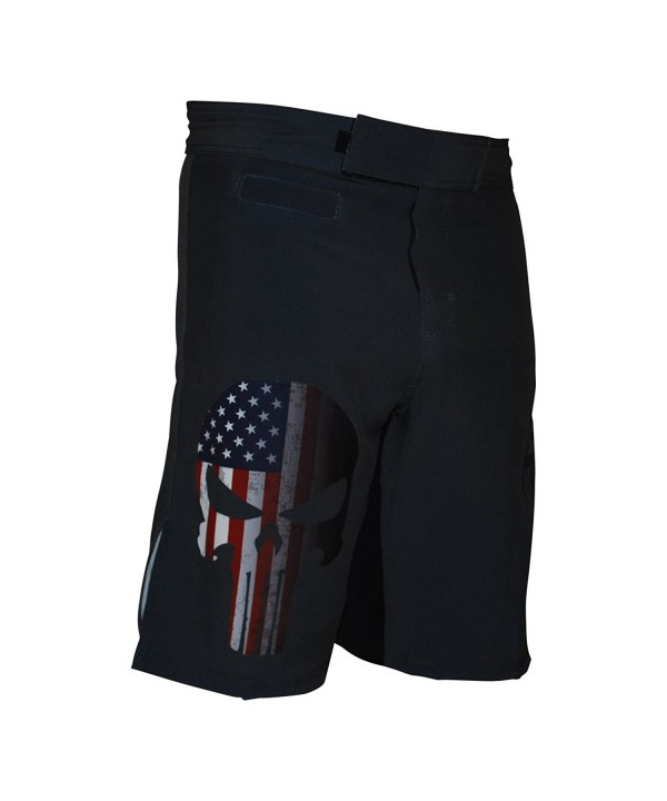 Warrior Skull Training Shorts Grey
