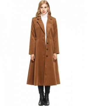 cecf679d01 Long Trench Coat- Women's Elegant Double Breasted Slim Fit Winter ...