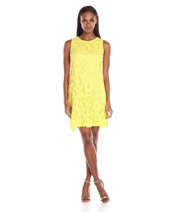 Ronni Nicole Sleevless Woven Lace Exposed
