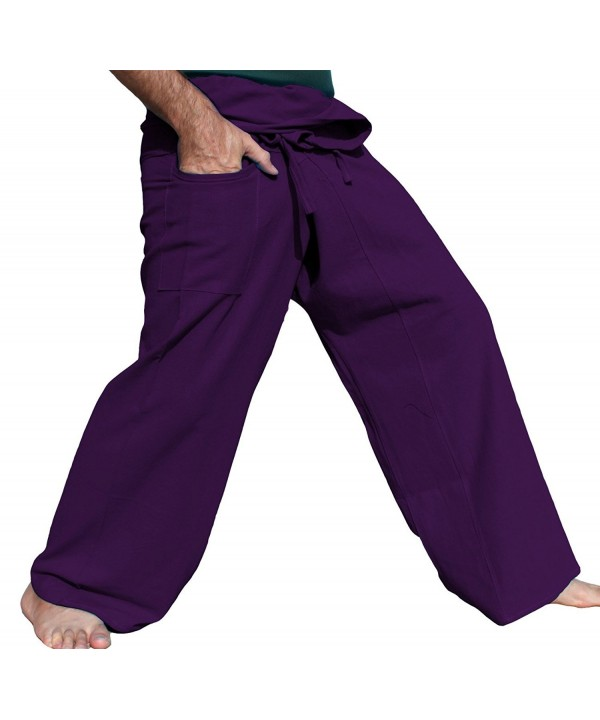RaanPahMuang Brand Cotton Fisherman Purple