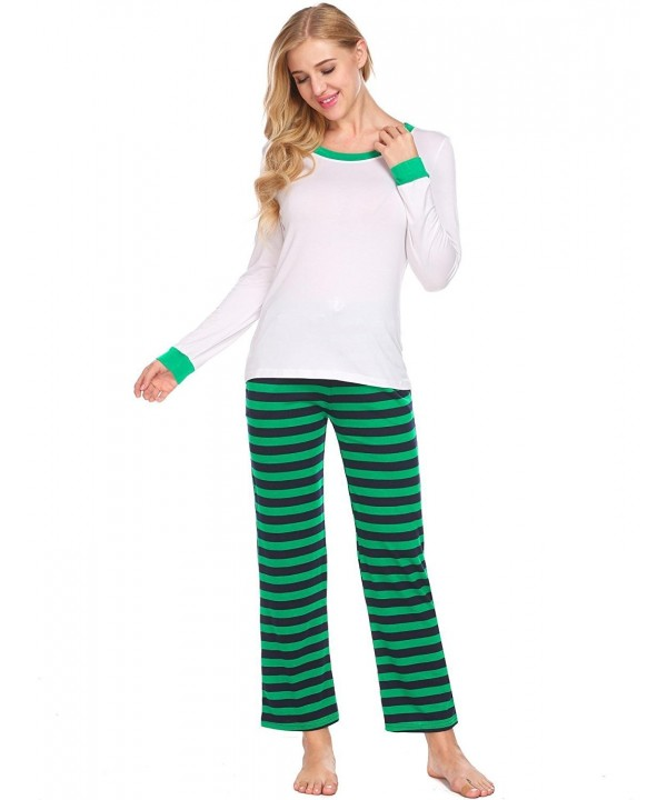 PEATAO Christmas Pajamas Sleeve Bottoms