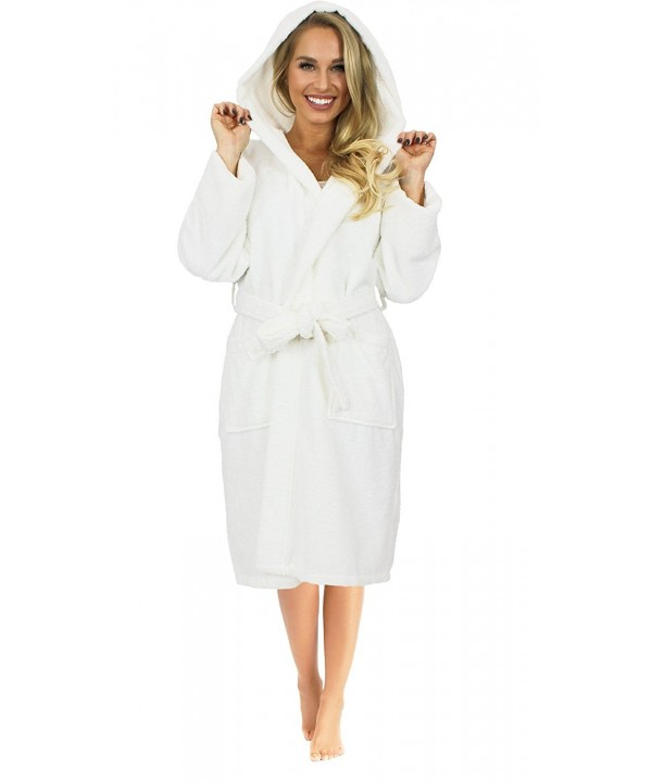 Womens Hooded Bathrobe Turkish Cotton