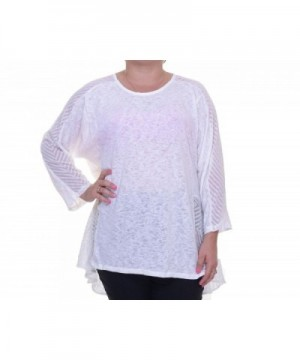 Alfani Womens Sheer Mixed Pullover