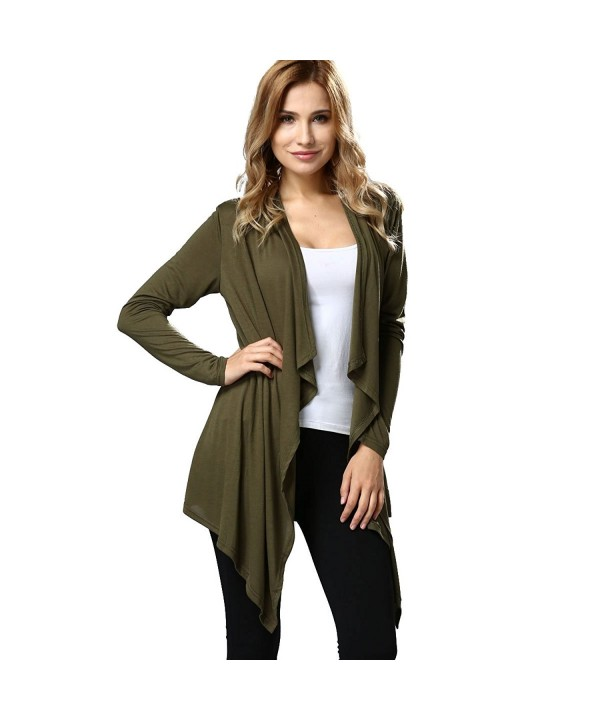 ALAIX Lightweight Open Front Cardigan Armygreen XL
