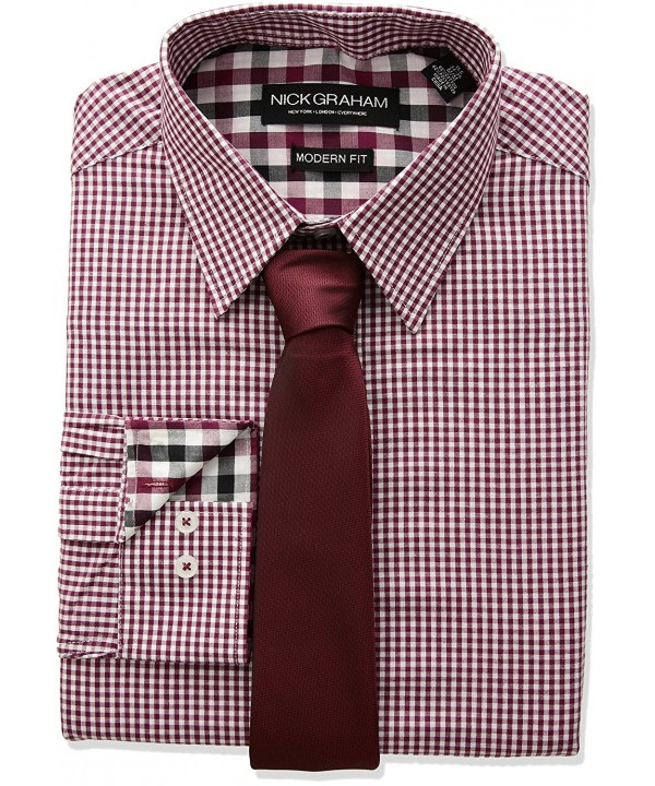 Nick Graham Gingham Check Sleeve