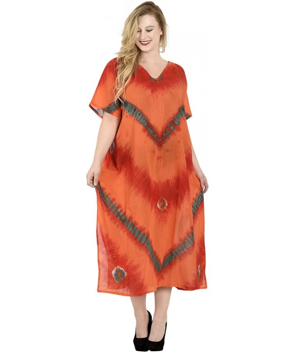 Leela Women Casual Caftan Orange