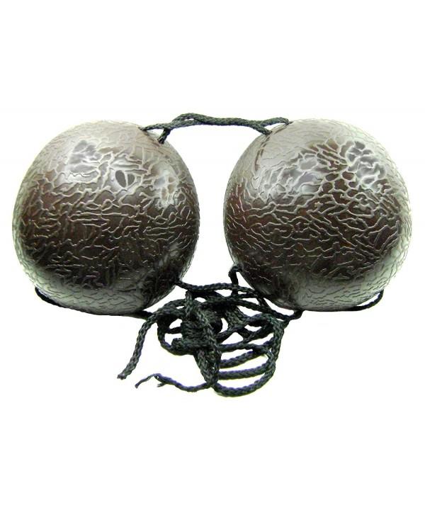 Plastic Luau Bikini Top Coconut