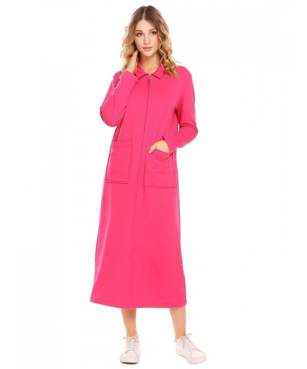 Opino Sleepwear Zip Front Bathrobe Nightgown