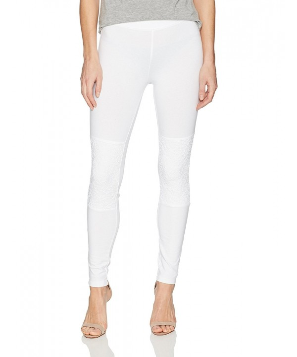 HUE Womens Cotton Leggings White