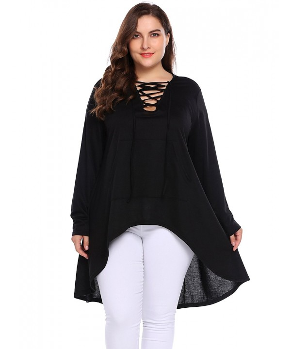 INVOLAND Irregular Asymmetric Shirt Pullover Sweatshirts
