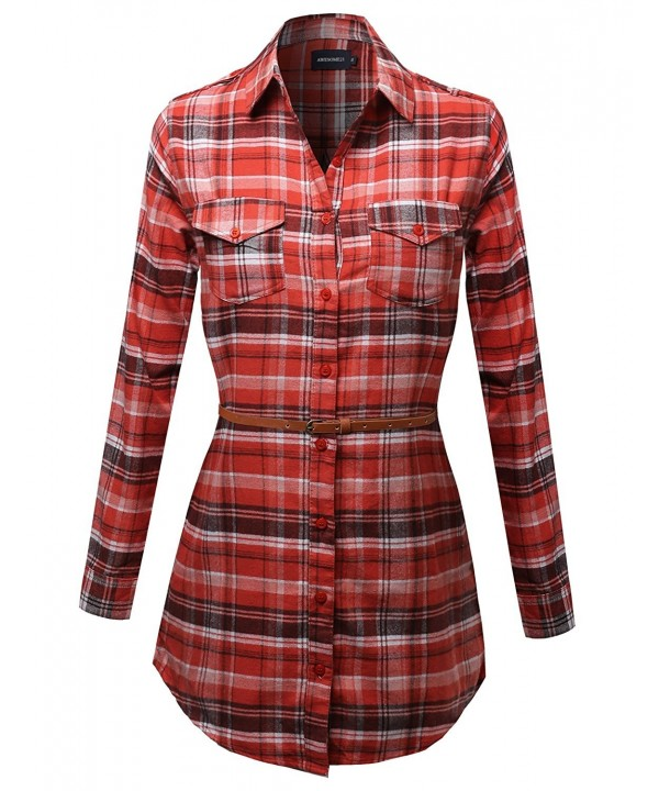 Awesome21 Super Flannel Checkered Orange