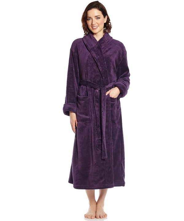 Leveret Womens Fleece Robe Purple