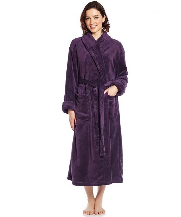 Leveret Womens Fleece Robe Purple