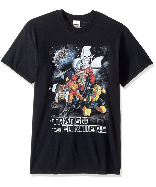 Transformers Retro Group T Shirt Black