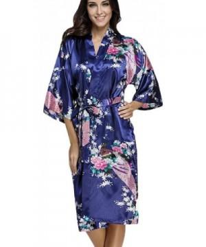 FLYCHEN Womens Kimono Sleepwear Peacock