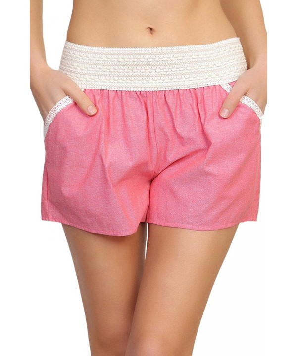 ToBeInStyle Womens Crotchet Waist Shorts
