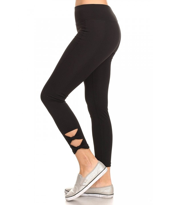 Womens Cutout Active Leggings Black