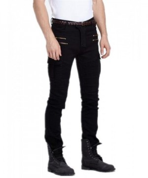 Vionr Distressed Washed Cotton Zippers