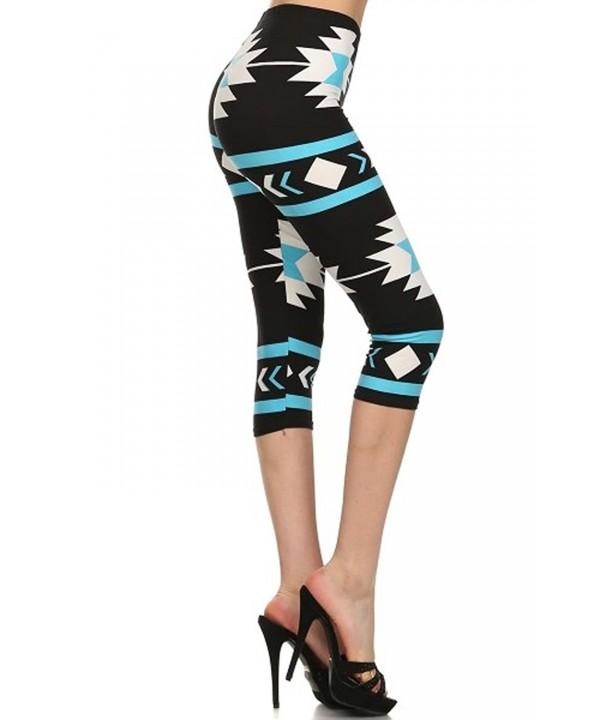 Capri Print Leggings Turquoise CA N2705 OS